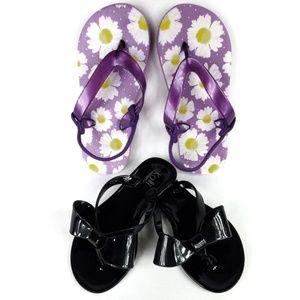 2 Pair for $10 Girl's Flip Flops EUC